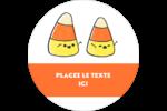 Bonbons de maïs d'Halloween Étiquettes rondes - gabarit prédéfini. <br/>Utilisez notre logiciel Avery Design & Print Online pour personnaliser facilement la conception.