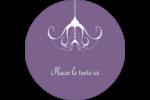 Chandelier macabre élégant d'Halloween Étiquettes rondes - gabarit prédéfini. <br/>Utilisez notre logiciel Avery Design & Print Online pour personnaliser facilement la conception.