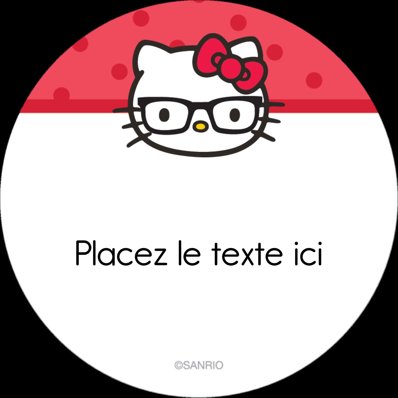 """2½"""" Diameter Étiquettes rondes - Votre Ami Hello Kitty"""