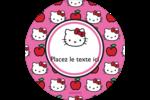 Hello Kitty adore les pommes! Étiquettes rondes - gabarit prédéfini. <br/>Utilisez notre logiciel Avery Design & Print Online pour personnaliser facilement la conception.