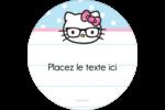 Hello Kitty avec des lunettes Étiquettes rondes - gabarit prédéfini. <br/>Utilisez notre logiciel Avery Design & Print Online pour personnaliser facilement la conception.