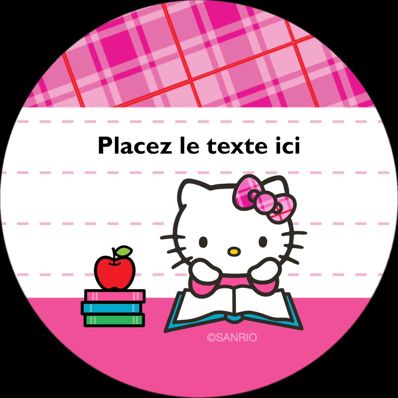 """2½"""" Diameter Étiquettes rondes - Temps d'étudier"""