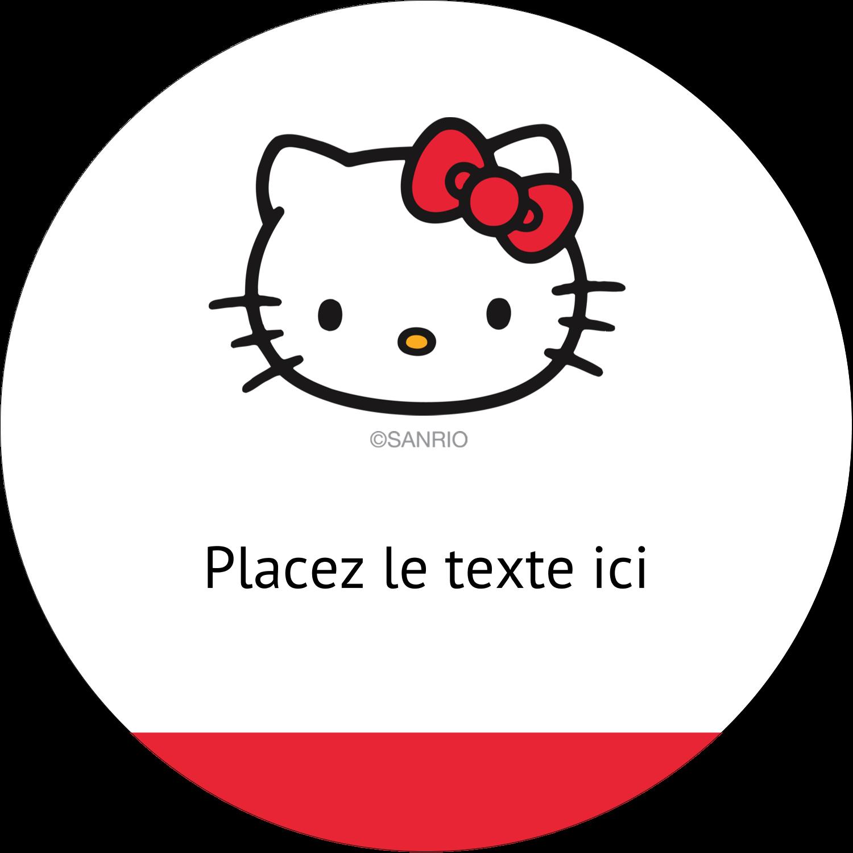 """2½"""" Diameter Étiquettes rondes - Bonjour Ami!"""