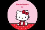 Hello Kitty super mignonne Étiquettes rondes - gabarit prédéfini. <br/>Utilisez notre logiciel Avery Design & Print Online pour personnaliser facilement la conception.