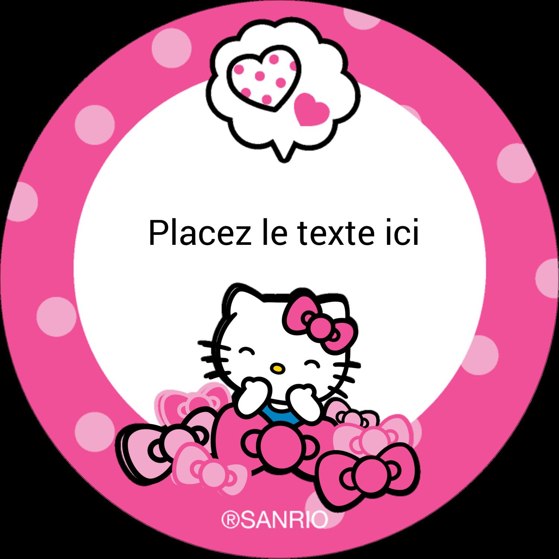 "2½"" Diameter Étiquettes rondes - Hello Kitty rigole"