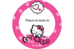 Hello Kitty rigole Étiquettes rondes - gabarit prédéfini. <br/>Utilisez notre logiciel Avery Design & Print Online pour personnaliser facilement la conception.
