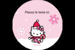 Canne en bonbon de Noël Hello Kitty Étiquettes rondes - gabarit prédéfini. <br/>Utilisez notre logiciel Avery Design & Print Online pour personnaliser facilement la conception.