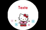 Hello Kitty Fêtes Étiquettes rondes - gabarit prédéfini. <br/>Utilisez notre logiciel Avery Design & Print Online pour personnaliser facilement la conception.