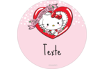 Hello Kitty Saint-Valentin Étiquettes rondes - gabarit prédéfini. <br/>Utilisez notre logiciel Avery Design & Print Online pour personnaliser facilement la conception.