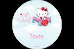 Hello Kitty Saint-Valentin - Mon cœur monte pour vous Étiquettes rondes - gabarit prédéfini. <br/>Utilisez notre logiciel Avery Design & Print Online pour personnaliser facilement la conception.