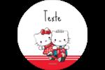 Hello Kitty et Cher Daniel Valentin Étiquettes rondes - gabarit prédéfini. <br/>Utilisez notre logiciel Avery Design & Print Online pour personnaliser facilement la conception.