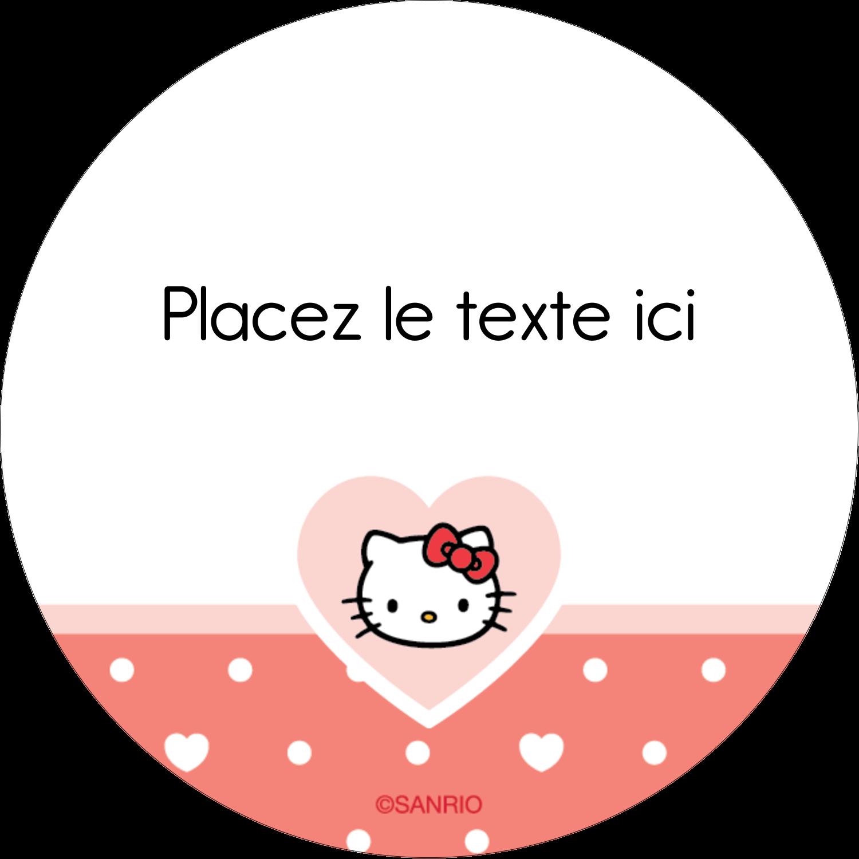 "2½"" Diameter Étiquettes rondes - Nous aimons Hello Kitty"