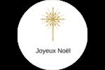 Étoile dorée de Bethléem Étiquettes rondes - gabarit prédéfini. <br/>Utilisez notre logiciel Avery Design & Print Online pour personnaliser facilement la conception.