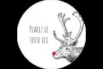 Nez rouge  Étiquettes arrondies - gabarit prédéfini. <br/>Utilisez notre logiciel Avery Design & Print Online pour personnaliser facilement la conception.
