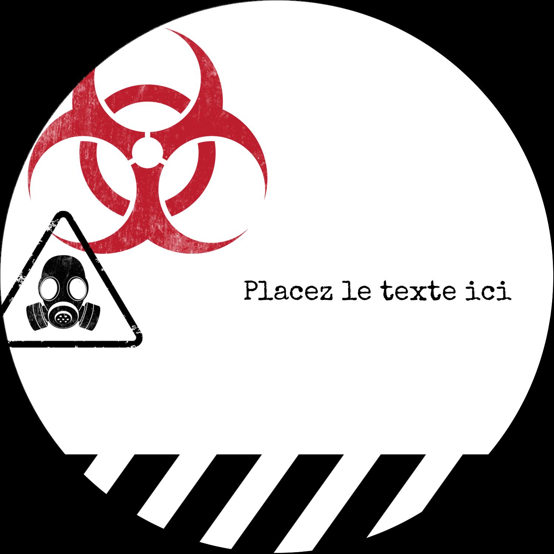 """3"""" x 2¼"""" Étiquettes arrondies - Apocalypse zombie d'Halloween"""
