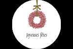 Couronnes de Noël Étiquettes arrondies - gabarit prédéfini. <br/>Utilisez notre logiciel Avery Design & Print Online pour personnaliser facilement la conception.