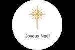 Étoile dorée de Bethléem Étiquettes arrondies - gabarit prédéfini. <br/>Utilisez notre logiciel Avery Design & Print Online pour personnaliser facilement la conception.
