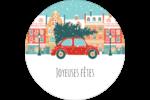 Coccinelle festive Étiquettes rondes - gabarit prédéfini. <br/>Utilisez notre logiciel Avery Design & Print Online pour personnaliser facilement la conception.