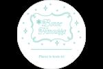 Hanoukka fantaisiste Étiquettes rondes - gabarit prédéfini. <br/>Utilisez notre logiciel Avery Design & Print Online pour personnaliser facilement la conception.