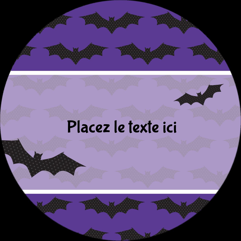 """3-7/16"""" x 15/16"""" Étiquettes de classement - Chauves-souris d'Halloween"""