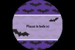 Chauves-souris d'Halloween Étiquettes de classement - gabarit prédéfini. <br/>Utilisez notre logiciel Avery Design & Print Online pour personnaliser facilement la conception.