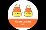 Bonbons de maïs d'Halloween Étiquettes de classement - gabarit prédéfini. <br/>Utilisez notre logiciel Avery Design & Print Online pour personnaliser facilement la conception.
