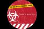 Apocalypse zombie d'Halloween Étiquettes de classement - gabarit prédéfini. <br/>Utilisez notre logiciel Avery Design & Print Online pour personnaliser facilement la conception.