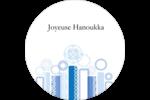 Chandelier bleu de Hanoukka  Étiquettes de classement - gabarit prédéfini. <br/>Utilisez notre logiciel Avery Design & Print Online pour personnaliser facilement la conception.