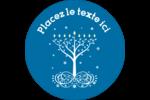 Arbre de Hanoukka Étiquettes de classement - gabarit prédéfini. <br/>Utilisez notre logiciel Avery Design & Print Online pour personnaliser facilement la conception.