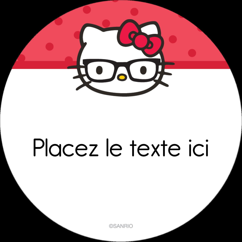 """3-7/16"""" x 15/16"""" Étiquettes de classement - Votre Ami Hello Kitty"""