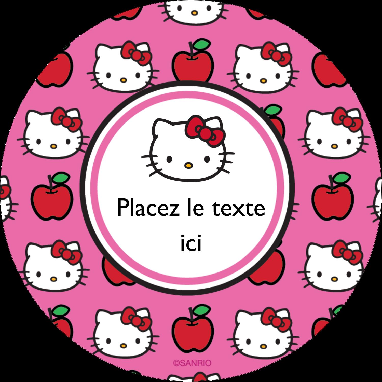 """3-7/16"""" x 15/16"""" Étiquettes de classement - Hello Kitty adore les pommes!"""