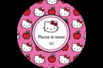 Hello Kitty adore les pommes! Étiquettes de classement - gabarit prédéfini. <br/>Utilisez notre logiciel Avery Design & Print Online pour personnaliser facilement la conception.