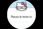 Hello Kitty avec des lunettes Étiquettes de classement - gabarit prédéfini. <br/>Utilisez notre logiciel Avery Design & Print Online pour personnaliser facilement la conception.