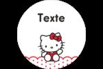 Salut Hello Kitty Étiquettes de classement - gabarit prédéfini. <br/>Utilisez notre logiciel Avery Design & Print Online pour personnaliser facilement la conception.
