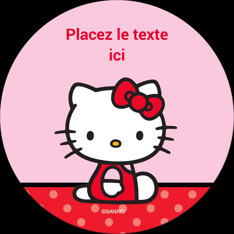 """3-7/16"""" x 15/16"""" Étiquettes de classement - Hello Kitty super mignonne"""
