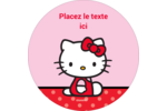 Hello Kitty super mignonne Étiquettes de classement - gabarit prédéfini. <br/>Utilisez notre logiciel Avery Design & Print Online pour personnaliser facilement la conception.