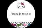 Hello Kitty Cœurs et Nœuds Étiquettes de classement - gabarit prédéfini. <br/>Utilisez notre logiciel Avery Design & Print Online pour personnaliser facilement la conception.