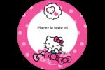 Hello Kitty rigole Étiquettes de classement - gabarit prédéfini. <br/>Utilisez notre logiciel Avery Design & Print Online pour personnaliser facilement la conception.