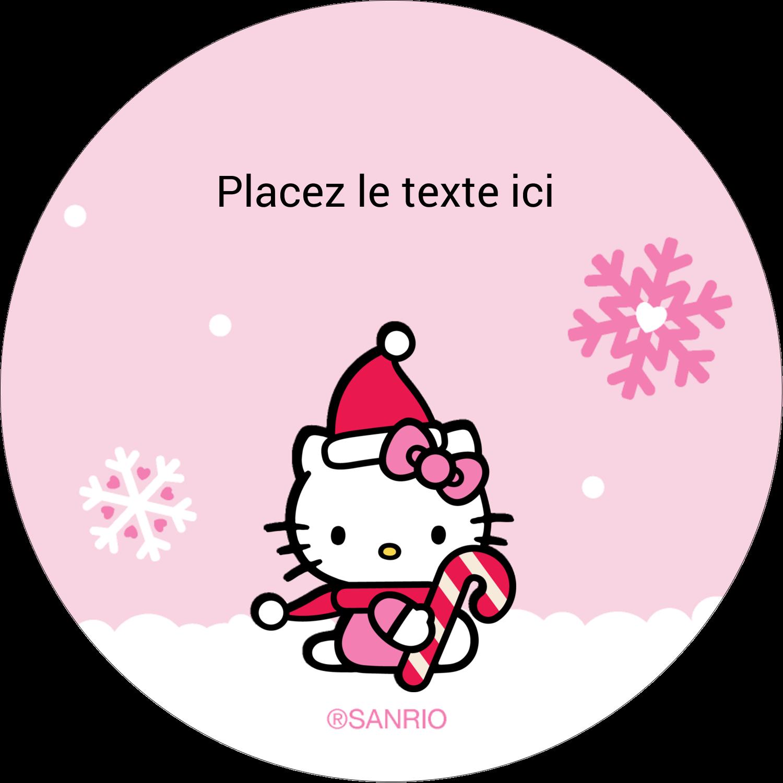 """3-7/16"""" x 15/16"""" Étiquettes de classement - Canne en bonbon de Noël Hello Kitty"""
