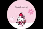 Canne en bonbon de Noël Hello Kitty Étiquettes de classement - gabarit prédéfini. <br/>Utilisez notre logiciel Avery Design & Print Online pour personnaliser facilement la conception.