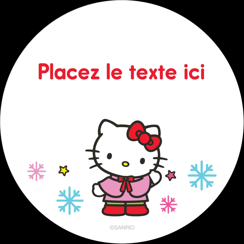 """3-7/16"""" x 15/16"""" Étiquettes de classement - Hello Kitty Fêtes"""