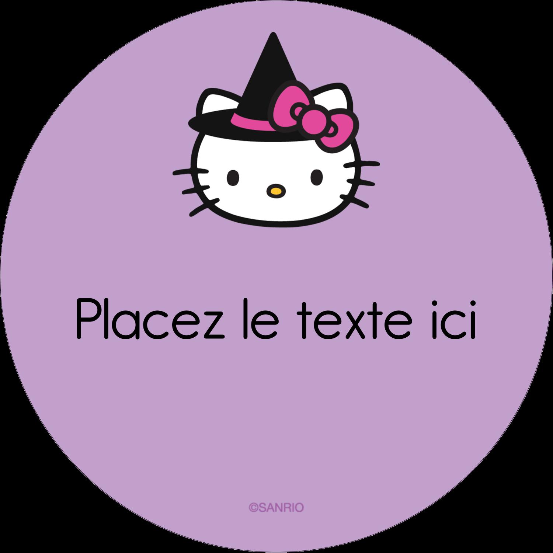 """3-7/16"""" x 15/16"""" Étiquettes de classement - Halloween Hello Kitty"""
