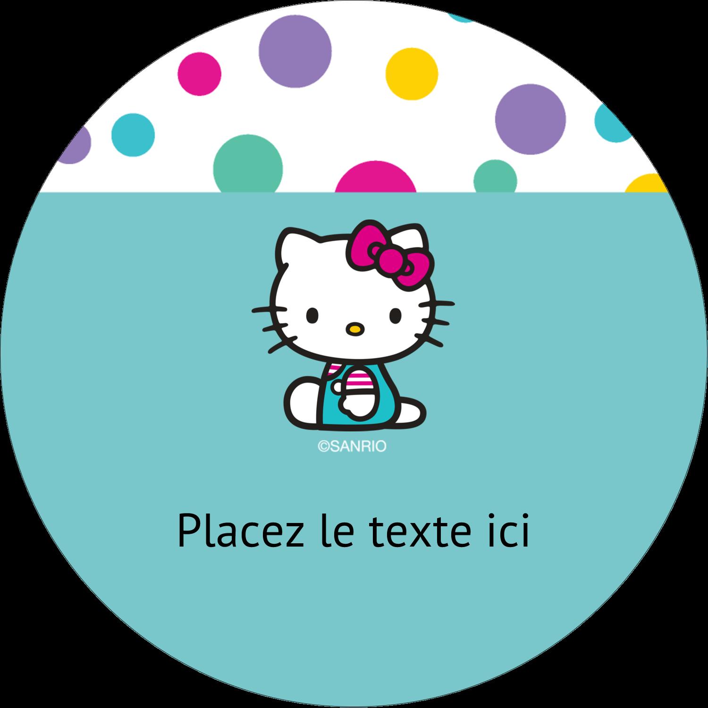 """3-7/16"""" x 15/16"""" Étiquettes de classement - Fête Hello Kitty"""