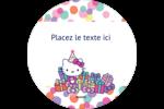 Hello Kitty Anniversaire Étiquettes de classement - gabarit prédéfini. <br/>Utilisez notre logiciel Avery Design & Print Online pour personnaliser facilement la conception.