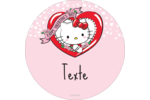Hello Kitty Saint-Valentin Étiquettes de classement - gabarit prédéfini. <br/>Utilisez notre logiciel Avery Design & Print Online pour personnaliser facilement la conception.