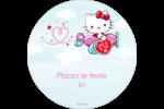 Hello Kitty Saint-Valentin - Mon cœur monte pour vous Étiquettes de classement - gabarit prédéfini. <br/>Utilisez notre logiciel Avery Design & Print Online pour personnaliser facilement la conception.