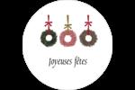 Couronnes de Noël Étiquettes de classement - gabarit prédéfini. <br/>Utilisez notre logiciel Avery Design & Print Online pour personnaliser facilement la conception.