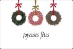 Couronnes de Noël Étiquettes rectangulaires - gabarit prédéfini. <br/>Utilisez notre logiciel Avery Design & Print Online pour personnaliser facilement la conception.