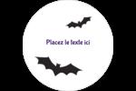 Chauves-souris d'Halloween Étiquettes arrondies - gabarit prédéfini. <br/>Utilisez notre logiciel Avery Design & Print Online pour personnaliser facilement la conception.
