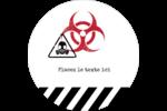 Apocalypse zombie d'Halloween Étiquettes arrondies - gabarit prédéfini. <br/>Utilisez notre logiciel Avery Design & Print Online pour personnaliser facilement la conception.